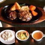 ぶどう亭 - 料理写真:【ランチ】ミックスグリルB(ライス・サラダ・スープ付) ¥1,880-