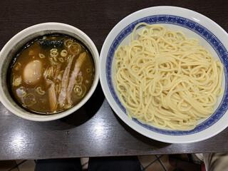 中華そば べんてん - つけ麺(中盛)&味玉トッピング 900円+100円