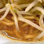 山盛山 - ド乳化のトロトロ濃厚スープ@ラーメン並ニンニク少なめ(700円)