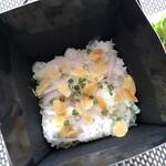 如月 - *ご飯は、京都祇園八代目儀兵衛さんで使用されているお米「翁霞」だとか。 つやがあり美味しいご飯です。