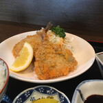 キッチンしま - アジフライ定食