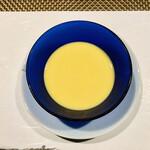 132205838 - 朝取れゴールドラッシュの冷製スープ