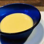 132205840 - 朝取れゴールドラッシュの冷製スープ