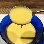 132205841 - 朝取れゴールドラッシュの冷製スープ