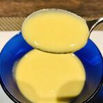 132205843 - 朝取れゴールドラッシュの冷製スープ