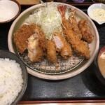 かつ壱番屋 - やまふじ定食(1350円)