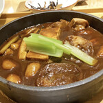 菜な - 鶏の味噌すき焼きアップ