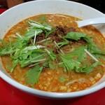 京橋ササラ - 金胡麻担担麺(750円)。濃厚でまろやかな胡麻スープが麺に絡むのが、とても良いです。おいしい。1辛で食べて欲しいな。