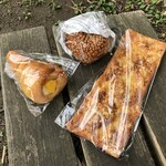 パン工房 - 料理写真:とまらない!チーズパリパリ、とろ~り半熟たまごのザクザクカレーパン、季節限定コロネ マンゴー&レアチーズ風(2020/06撮影)