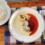 キャセロール - ライス キャセロール特製ハンバーグステーキ