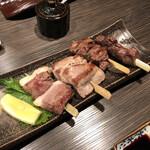 河内鴨と旬菜 雅庵 - 串盛り合わせ