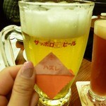 Biyahoruraion - ビール(大)でクジ一回。残念ながら、ハズレ~(TT)