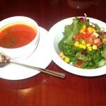 13223439 - セットのサラダ&本日のスープ単品210円