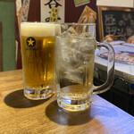 豚のいろ葉 - 生ビール(大)、スタンダードハイボール(大)