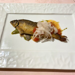 レストランパフューム - 鮎のコンフィ