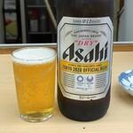 魚介 - スーパードライ大瓶