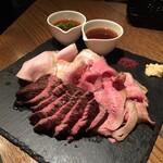 Meat&Wine BEYOND - 名物!3種肉の盛り合わせ(2,490円)