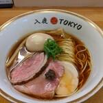 イルカ トウキョウ - 料理写真:ポルチーニ醤油らぁ麺+味玉