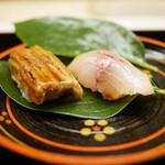 道人 - 鯵と穴子の寿司