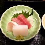 居酒屋 酒亭じゅらく - 鮮魚のお刺身4貫盛