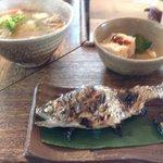 Tokosesoba - 川魚。豚汁。小鉢