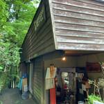 絶景カフェ ぽっぽ - 山小屋風の佇まい