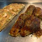 鉄板焼き レストラン 天空の館 - 料理写真:エビ&そば入りお好み焼き