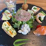 トレ グラッポリ - ディナーコースの前菜