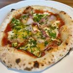 トレ グラッポリ - ディナーコースのピザ