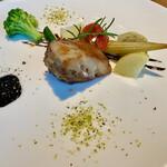 トレ グラッポリ - ディナーコースの肉は豚