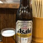 天山閣ハイハイ横丁 - 大瓶ビールアサヒ430円