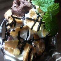 ビッグフォーレスト - チョコレートパフェ 650yen BIGFORESTらしいジャンボです。