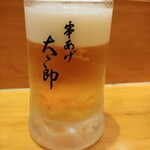 串あげ太郎 - サッポロ生ビール 600円