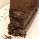 珈琲 豆の樹 - チョコレートケーキの断面