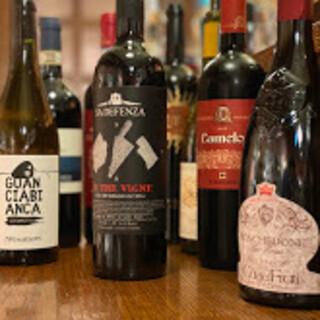当店はイタリア20州のワインのみご用意しております。