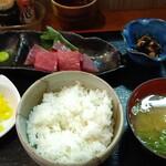 かずやん - 天ぷらお造り定食750円