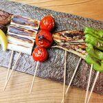 先斗町 炭楽屋とりうめ - おまかせ野菜串セット