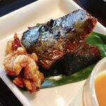 132316802 - 蕎麦点心@蕎麦遊膳 響…先付け 蕎麦点心 季節の天ぷら せいろ デザート 1,600円