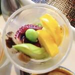 132316806 - 蕎麦点心@蕎麦遊膳 響…先付け 蕎麦点心 季節の天ぷら せいろ デザート 1,600円