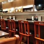 食処酒処いいおか - 一階カウンター9席、二人掛けテーブル1つ。二階四人掛けテーブル4つ。