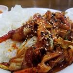 イモチャン - イカ炒め丼。