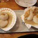 いろり - むつ湾産活ホタテ焼き