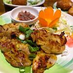 Nettaishokudou - アヤムパンガン(炙り鶏の生ハーブソース)