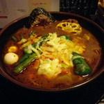 ラマイ - スープ「ブヒッ」\980大盛り\0、チーズトッピング\120、辛さ1