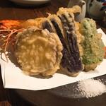 132340867 - 大海老と野菜の天ぷら