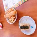 高江洲そば - ジューシーと天ぷら
