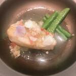 エルルカン・ビス - オナガ鯛 グレープフルーツと貝のスープ