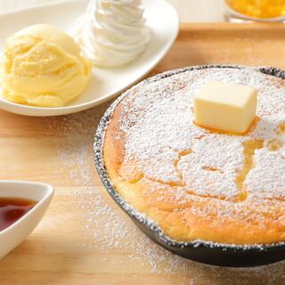 焼きたてのふわふわ「鉄ぱんパンケーキ」