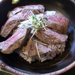 いろり家 - 足柄牛のステーキ丼(ランプ)@1,800円