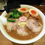 麺座 でん - ...「特製らーめん 大盛 270g(950円)」、THE 魚介系☆彡